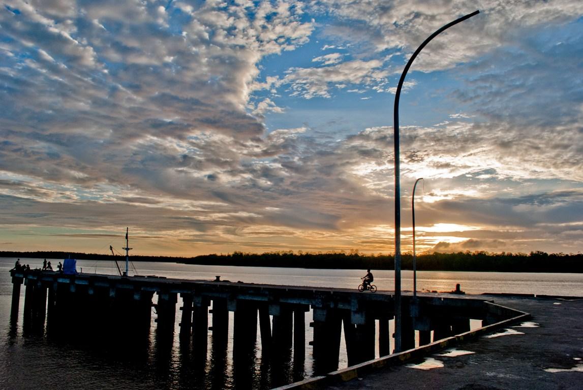 Dermaga pelabuhan Utama Agats