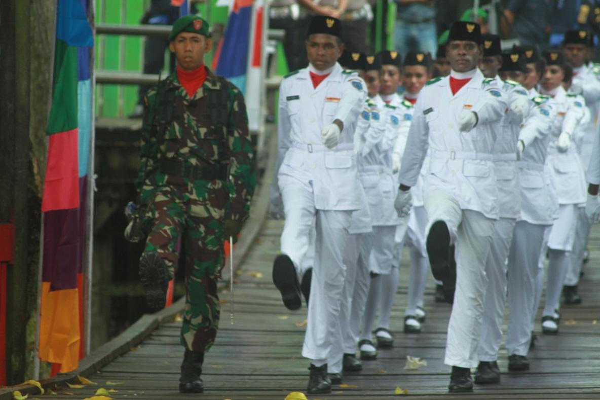 Paskibra Kabupaten Asmat 17 Agustus 2016
