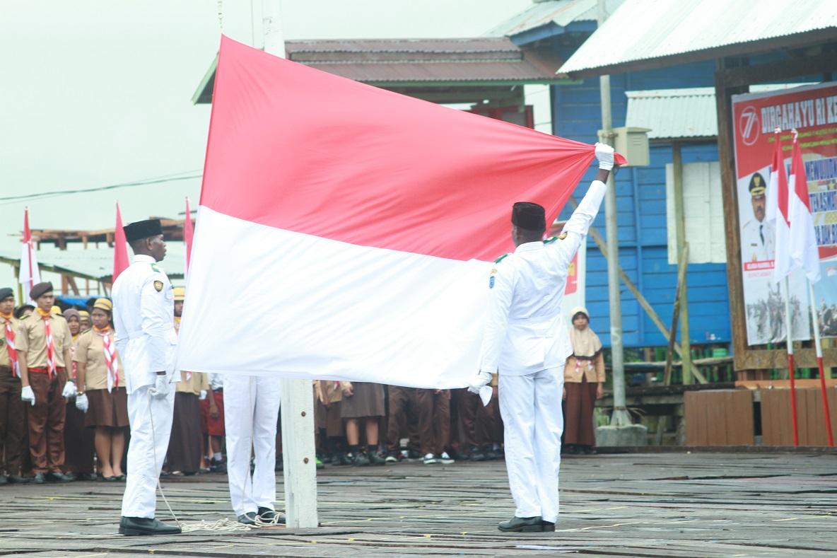 Bendera Merah Putih Telah Siap untuk di Kibarkan